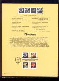 3457a    (34c) Flowers Varieties USPS Souvenir Page 3-Jan