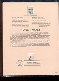 3496     34c Rose Lover Letter USPS Souvenir Page 5-Jan