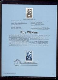 3501     34c Roy Wilkins USPS Souvenir Page 7-Jan