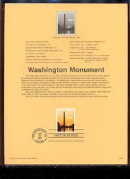 3473     $12.25 Washington Monument USPS Souvenir Page 8-Jan