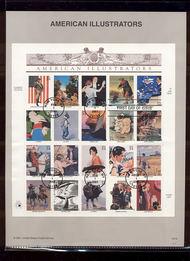 3502     34c American Illustrators MS20 USPS Souvenir Page 10-Jan
