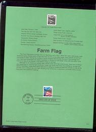 3469     34c Farm Flag USPS Souvenir Page 11-Jan