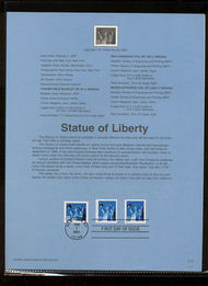 3476-77/85  34c Statue of Liberty 3 Varieties USPS Souvenir Pag 12-Jan