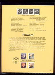 3478-81   34c Flowers Definitives USPS Souvenir Page 13-Jan
