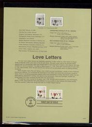 3497-98   34c & 55c Love Letters USPS Souvenir Page 14-Jan