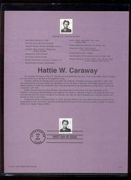 3431     76c Hattie W. Caraway USPS Souvenir Page 15-Jan