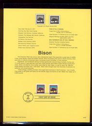 3468-75   21c Bison USPS Souvenir Page 16-Jan