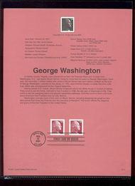 3482     20c George Washington USPS Souvenir Page 17-Jan