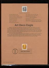3471     55c Art Deco Eagle USPS Souvenir Page 18-Jan