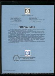 O158     34c Official Mail Coil USPS Souvenir Page 19-Jan