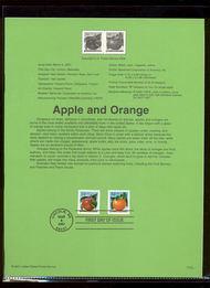 3491-92   34c Apple and Orange USPS Souvenir Page 20-Jan