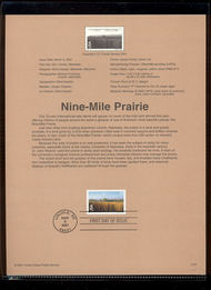 C136     70c Nine-Mile Prairie Airmail USPS Souvenir Page 21-Jan