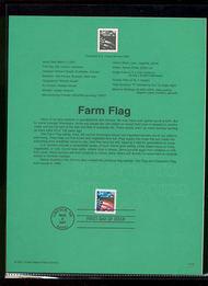 3470     34c Farm Flag USPS Souvenir Page 22-Jan