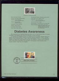 3503     34c Diabetes Awareness USPS Souvenir Page 23-Jan