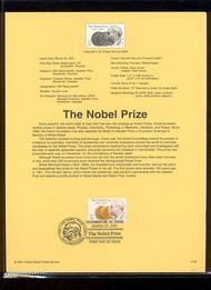 3504     34c The Nobel Prize USPS Souvenir Page 24-Jan