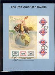 3505     1c/80c Pan-American Inverts USPS Souvenir Page 25-Jan