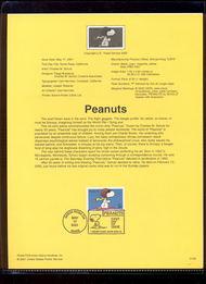 3507     34c Peanuts by Charles M. Schulz USPS Souvenir Page 28-Jan