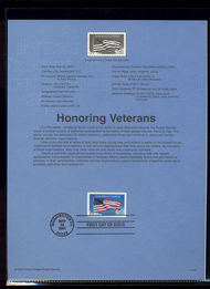 3508     34c Honoring Veterans USPS Souvenir Page 29-Jan