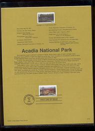C138     60c Acadia National Park Airmail USPS Souvenir Page 30-Jan