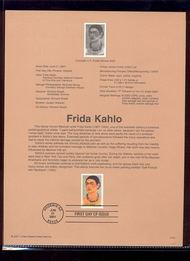 3509     34c Frida Kahlo USPS Souvenir Page 31-Jan