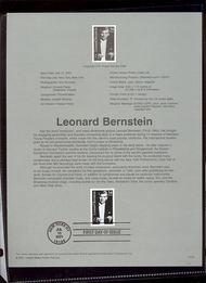 3521     34c Leonard Bernstein USPS Souvenir Page Jan-34