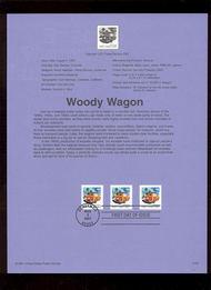 3522     (15c) Woody Wagon Coil USPS Souvenir Page Jan-35