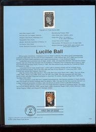 3523     34c Lucille Ball USPS Souvenir Page Jan-36