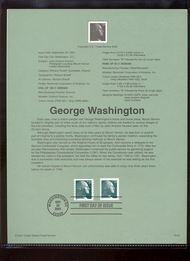 3468A/3478A 23c Washington Coil & Sheet Stamps USPS Souvenir Pa Jan-42