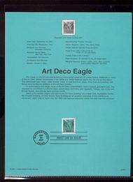 3471A    57c Art Deco Eagle USPS Souvenir Page Jan-43