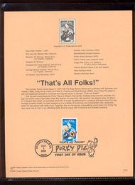 3534a    34c 'That's All Folks' USPS Souvenir Page Jan-44