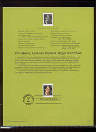 3536     34c Costa's Virgin and Child USPS Souvenir Page Jan-45