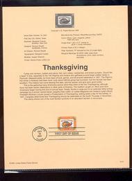 3546     34c Thanksgivings USPS Souvenir Page Jan-47