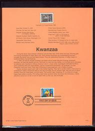 3548     34c Kwanzaa USPS Souvenir Page Jan-49