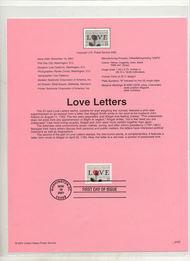3551     57c Love Letters USPS Souvenir Page Jan-52