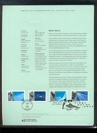 3552-55   34c Winter Sports (Olympics) USPS Souvenir Page 1-Feb
