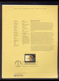 3556     34c Mentoring a Child USPS Souvenir Page 2-Feb