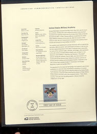 3560     34c United States Military Academy USPS Souvenir Pa 6-Feb