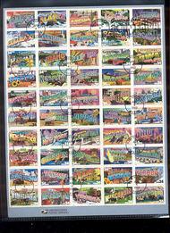 3561-3610  34c Greetings from America Sheet USPS Souvenir Page 7-Feb