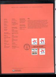 3613-14   3c Star (3) USPS Souvenir Page 12-Feb