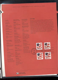 3630/36   37c Flag Sheet and Coils (4) USPS Souvenir Page 13-Feb