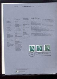 3616/19   23c Washington Sheet and Coils (3) USPS Souvenir Pa 14-Feb