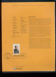 3651     37c Harry Houdini USPS Souvenir Page 18-Feb
