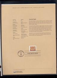 3646     60c Coverlet Eagle USPS Souvenir Page 19-Feb
