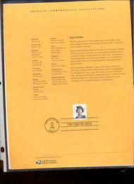 3433     83c Edna Ferber USPS Souvenir Page 21-Feb