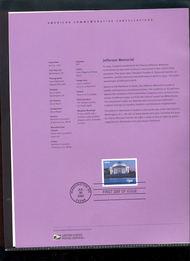 3647     $3.85 Jefferson Memorial USPS Souvenir Page 22-Feb