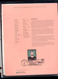3652     37c Andy Warhol USPS Souvenir Page 25-Feb
