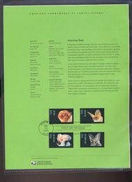 3661-64   37c American Bats (4) USPS Souvenir Page Feb-30