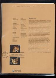 3670-71   37c Neuter or Spay (2) USPS Souvenir Page Feb-33