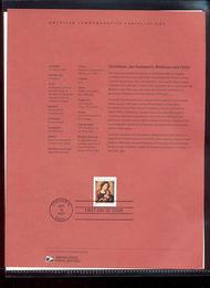 3675     37c Jan Gossaert's Madonna and Child USPS Souvenir  Feb-34