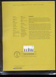3672     37c Hanukkah USPS Souvenir Page Feb-37